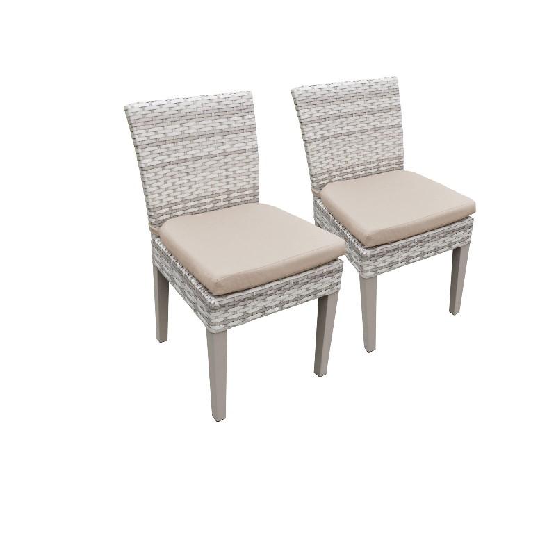 2 Fairmont Armless Dining Chairs in Wheat - TK Classics Tkc245B-Adc-C-Wheat