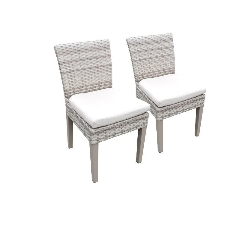 2 Fairmont Armless Dining Chairs in Sail White - TK Classics Tkc245B-Adc-C-White