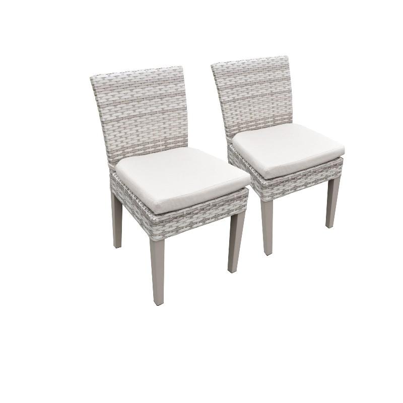 2 Fairmont Armless Dining Chairs in Beige - TK Classics Tkc245B-Adc-C