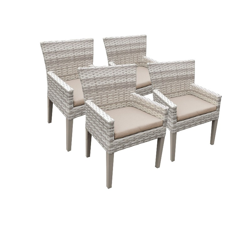 Tk Classics Dining Chairs Arms Wheat