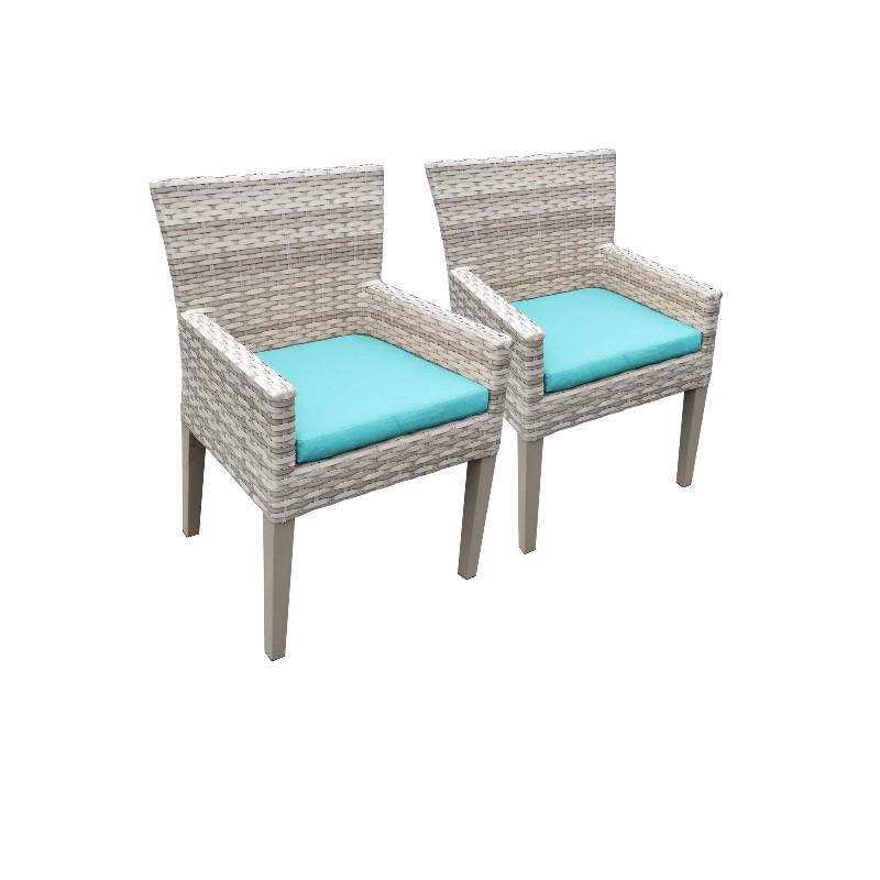 2 Fairmont Dining Chairs w/ Arms in Aruba - TK Classics Tkc245B-Dc-C-Aruba