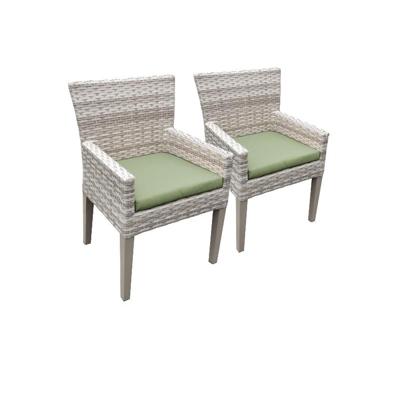 2 Fairmont Dining Chairs w/ Arms in Cilantro - TK Classics Tkc245B-Dc-C-Cilantro