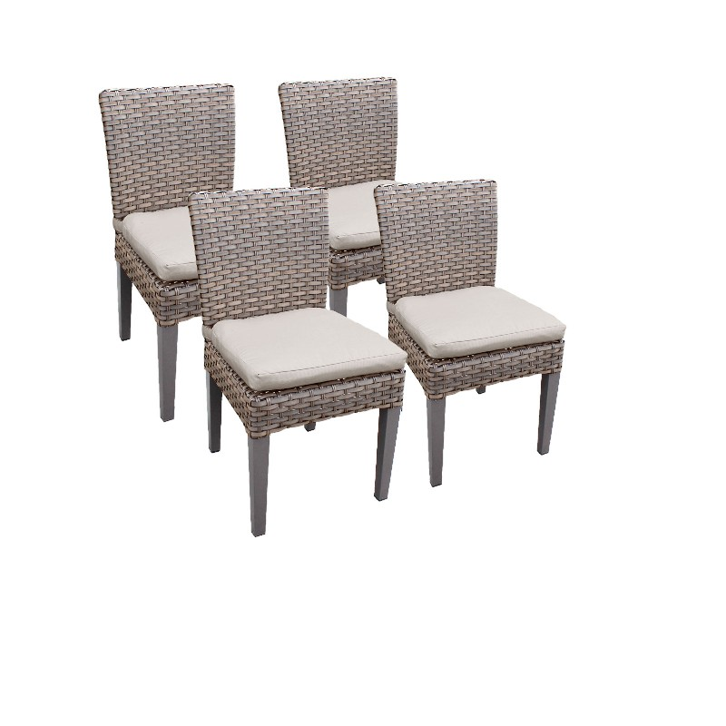 Tk Classics Armless Dining Chairs Beige