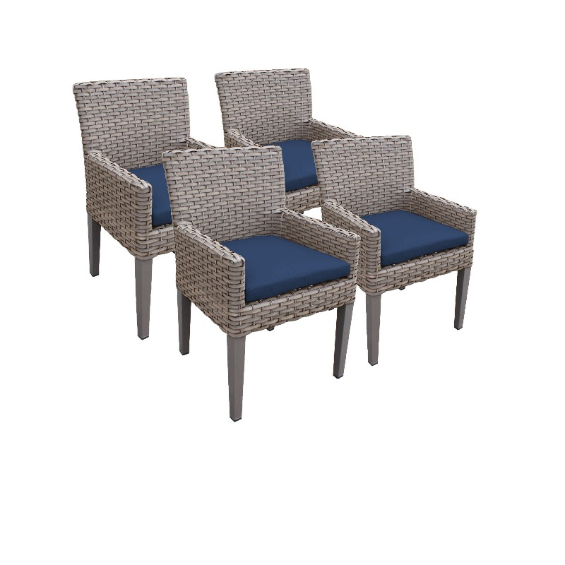 Tk Classics Dining Chairs Arms Navy