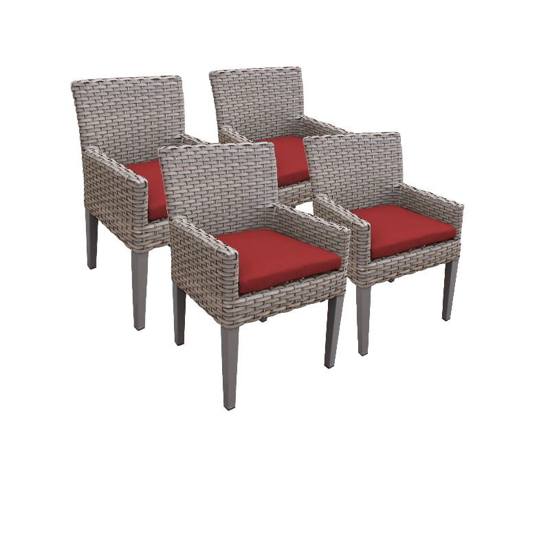 Tk Classics Dining Chairs Arms Terracotta