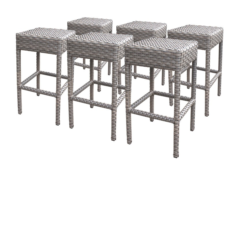 Tk Classics Backless Barstools Grey Stone