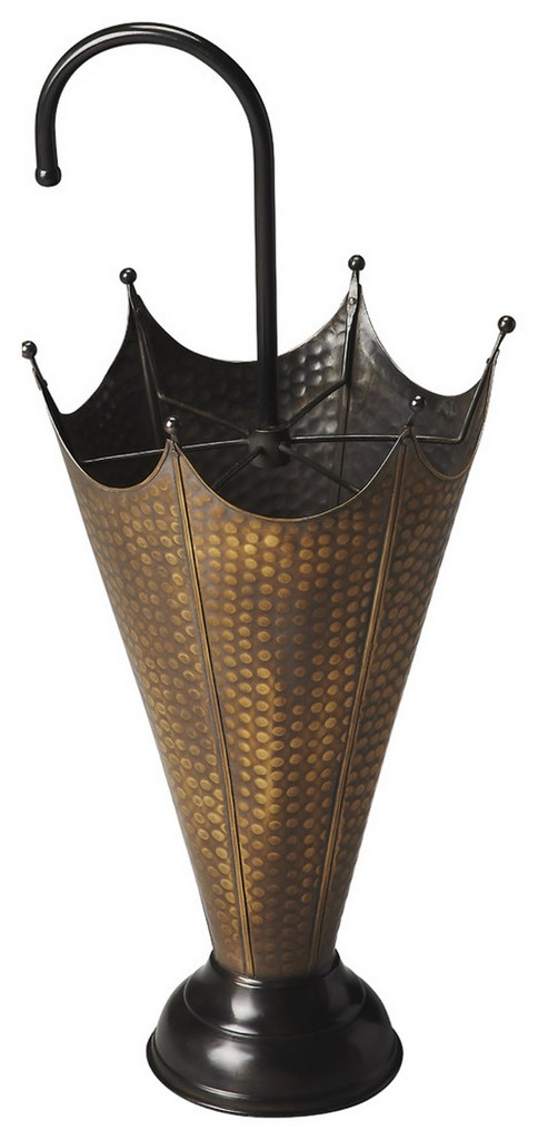 Poppins Antique Brass Umbrella Stand - Butler Specialty 3285016
