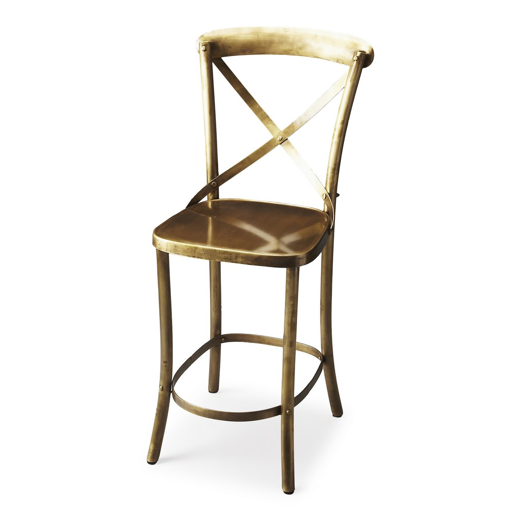 Bennington Antique Gold Bar Stool - Butler Specialty 3432330