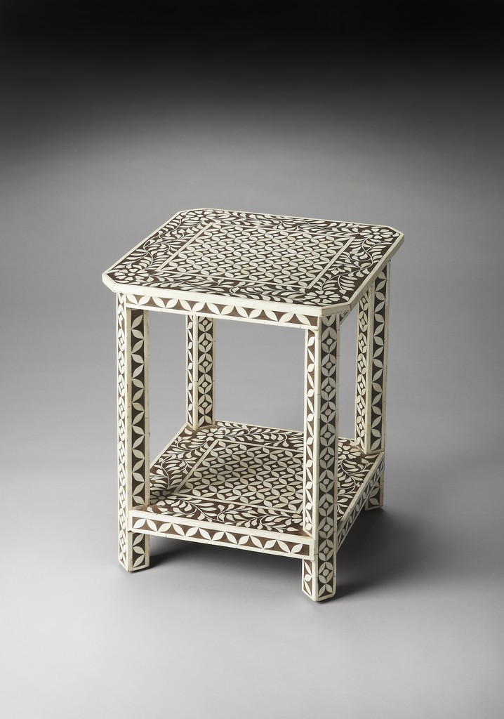 Amelia Brown Bone Inlay Side Table - Butler Specialty 3449326