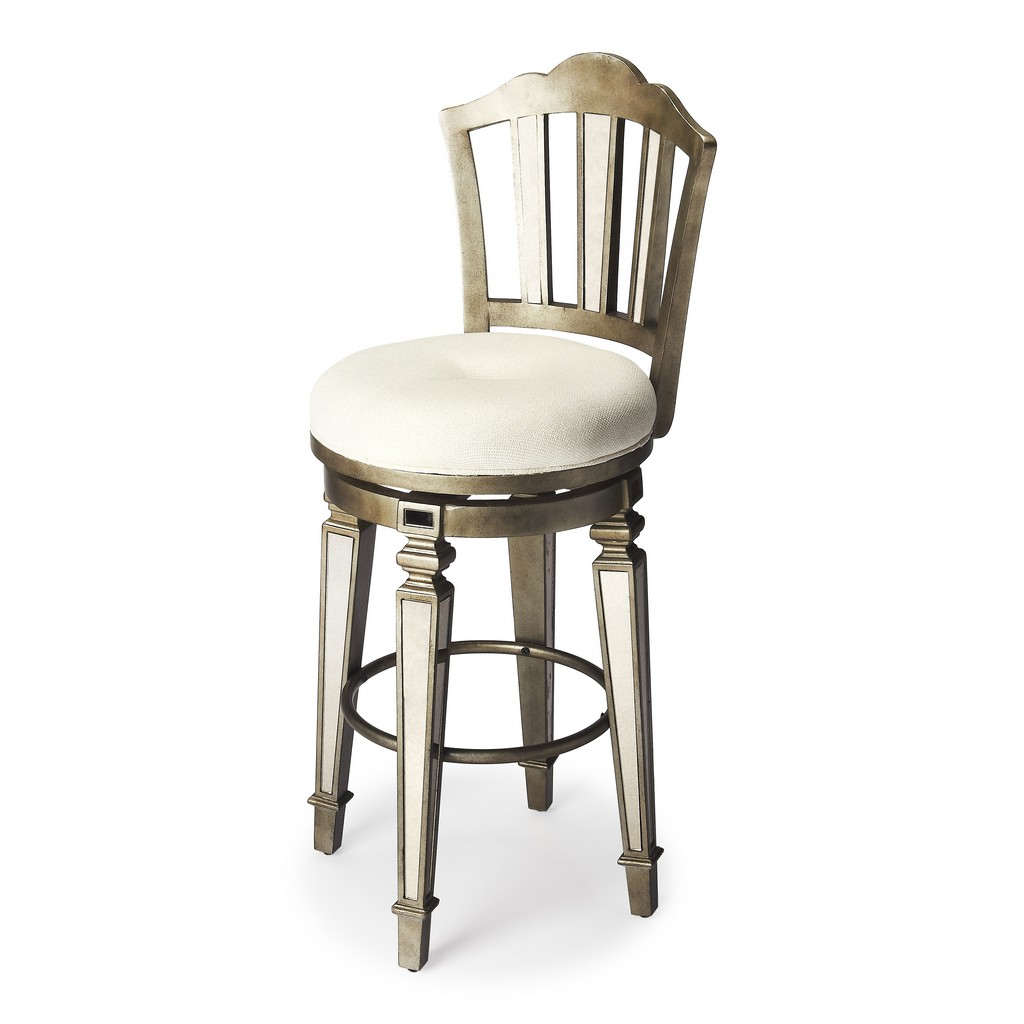 Jarnot Mirrored Bar Stool - Butler Specialty 3508146