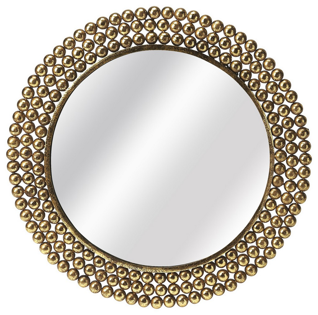 Tiny Bubbles Antique Gold Mirror - Butler Specialty 3538226