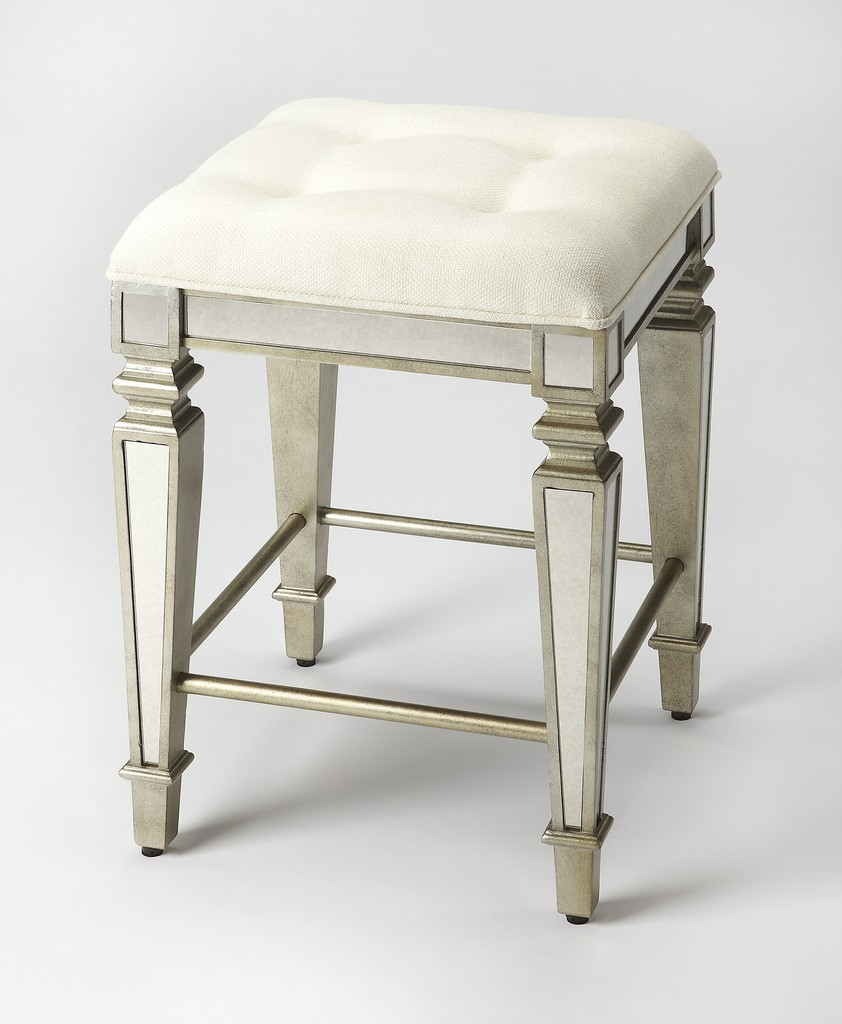 Celeste Mirrored Counter Stool - Butler Specialty 3751146
