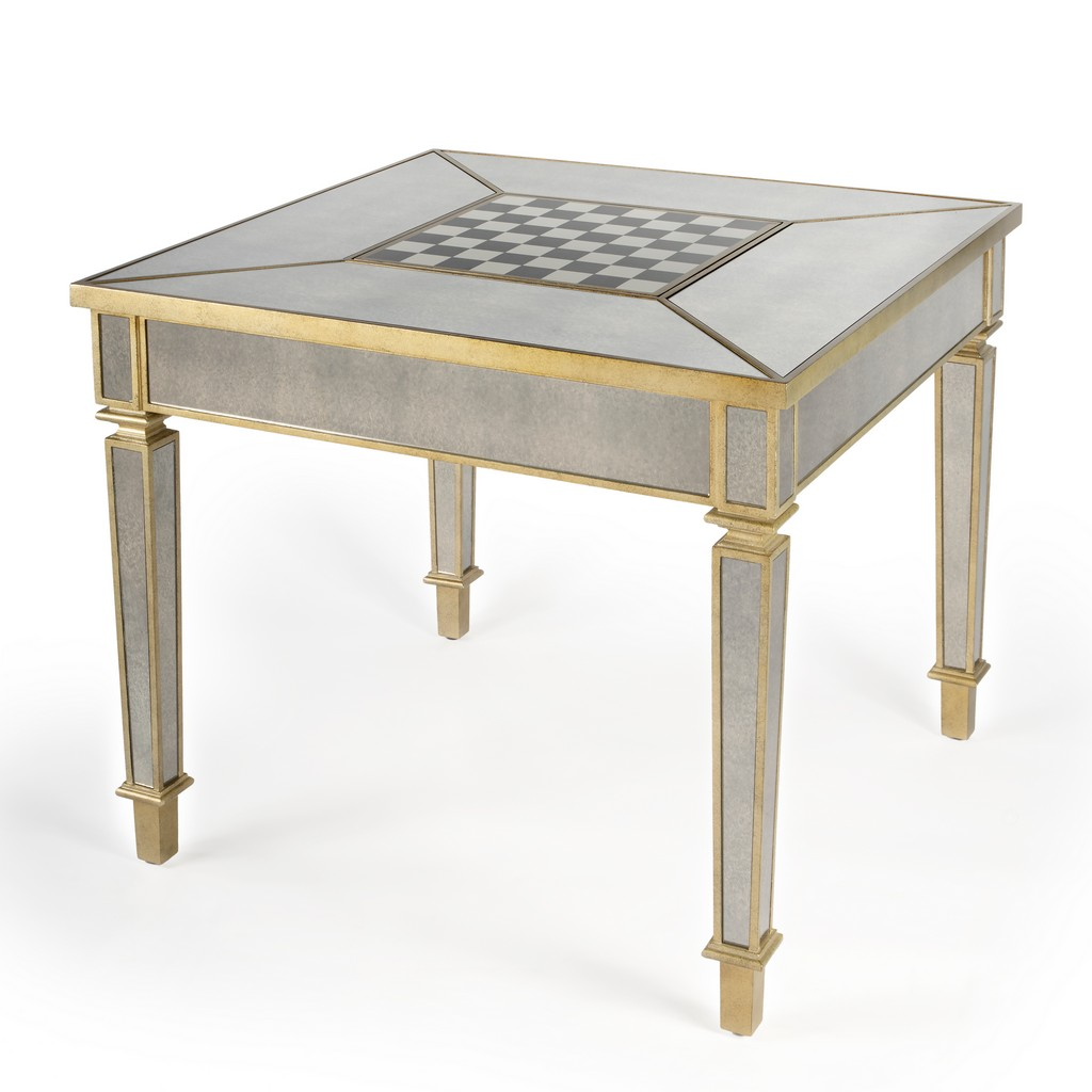 Celeste Mirrored Game Table - Butler Specialty 3766146