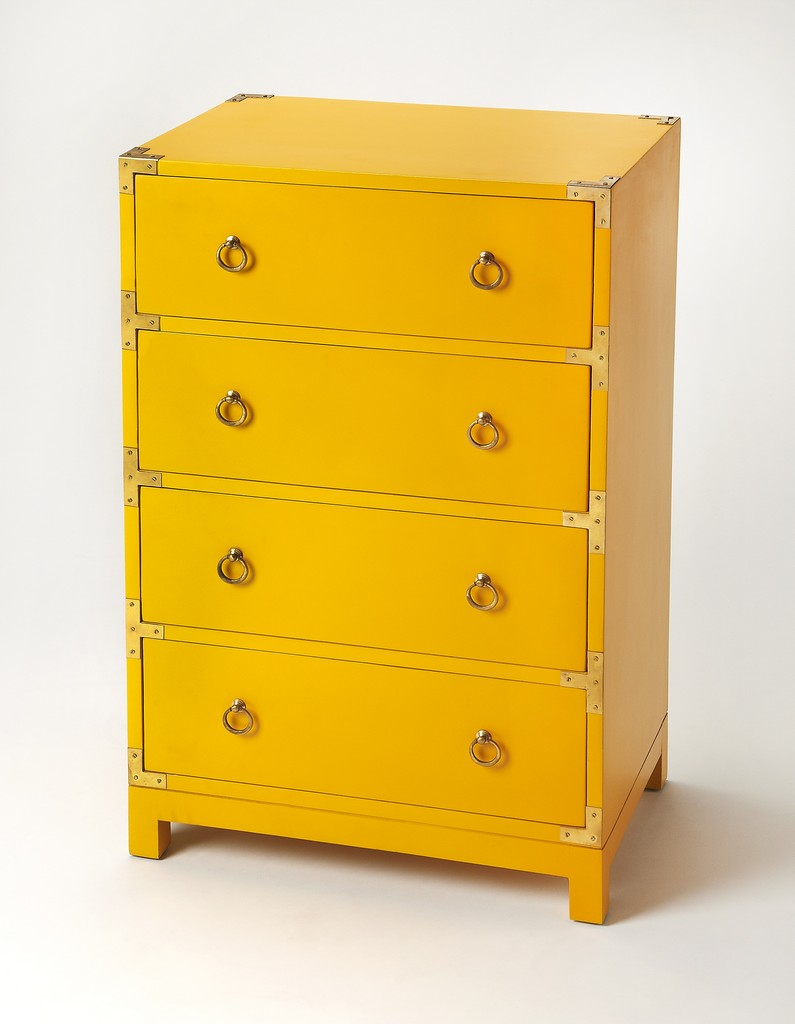 Ardennes Yellow Campaign Accent Chest - Butler Specialty 3845289