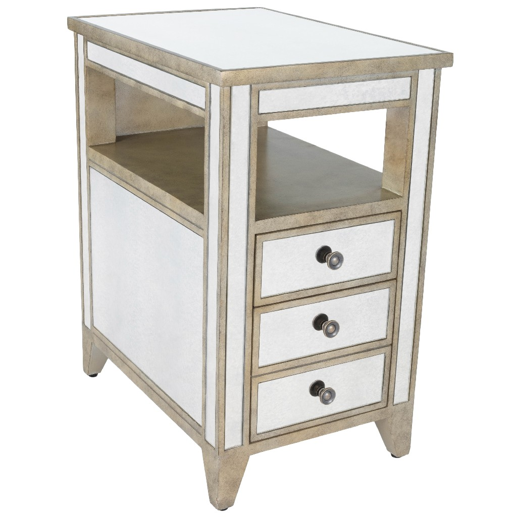 Baines Chairside Table in Mirrored - Butler Specialty 3975146