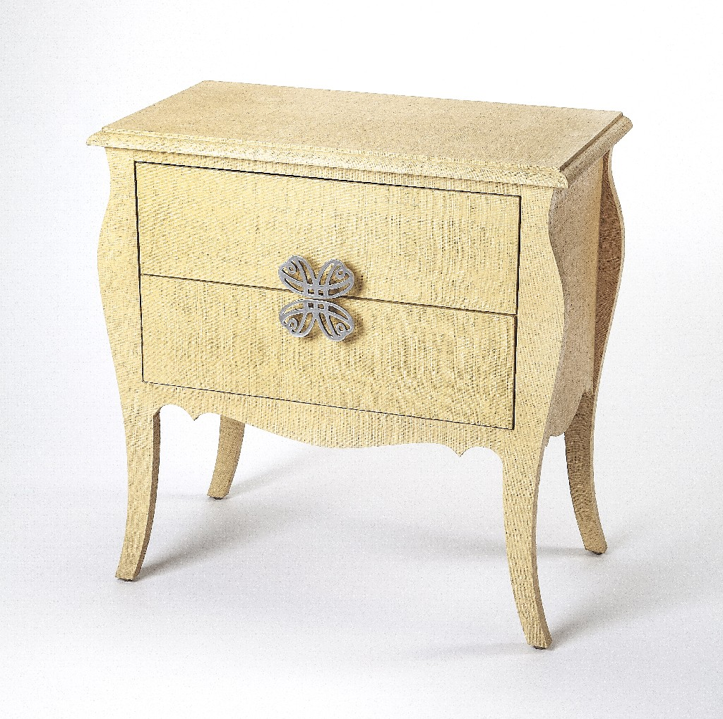 Felicia Accent Chest in Natural Raffia - Butler Specialty 4367349