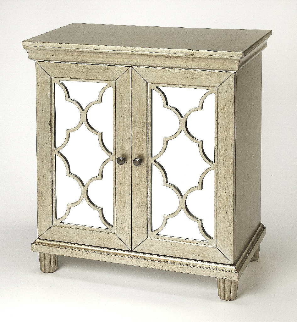 Jocelyn Accent Cabinet in Silver - Butler Specialty 4429409