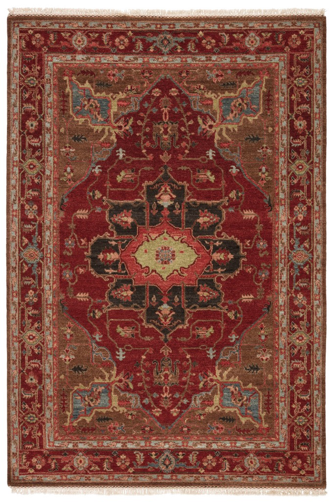 Artemis by Jaipur Living York Hand-Knotted Medallion Red/ Brown Area Rug (9'X12') - RUG104275