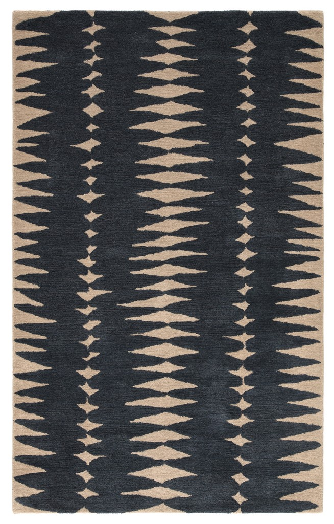 Luli Sanchez by Jaipur Living Tear Drops Handmade Geometric Gray/ Beige Area Rug (2