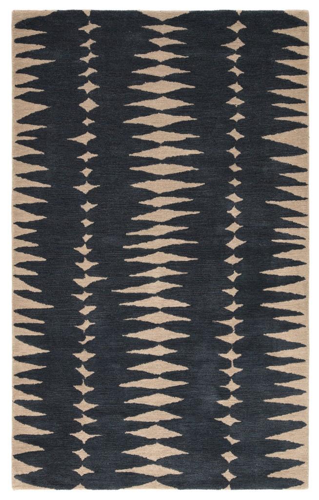 Luli Sanchez by Jaipur Living Tear Drops Handmade Geometric Gray/ Beige Area Rug (9
