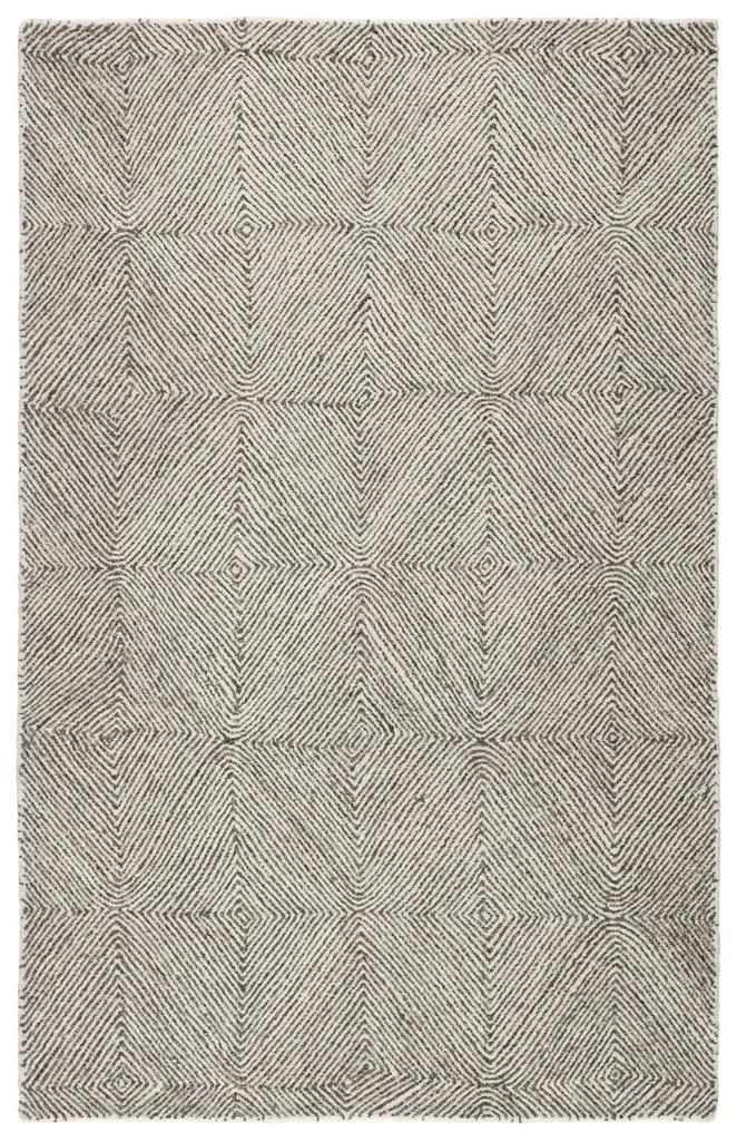 Museum Ifa by Jaipur Living Exhibition Handmade Geometric White/ Dark Gray Area Rug (5