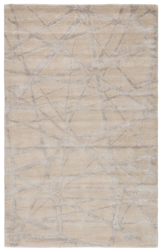 Nikki Chu by Jaipur Living Avondale Handmade Abstract White/ Gray Area Rug (8