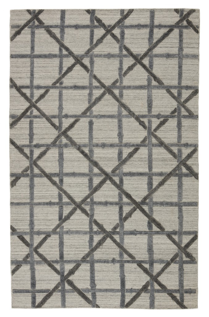 Barclay Butera by Jaipur Living Mandeville Handmade Trellis Gray Area Rug (5