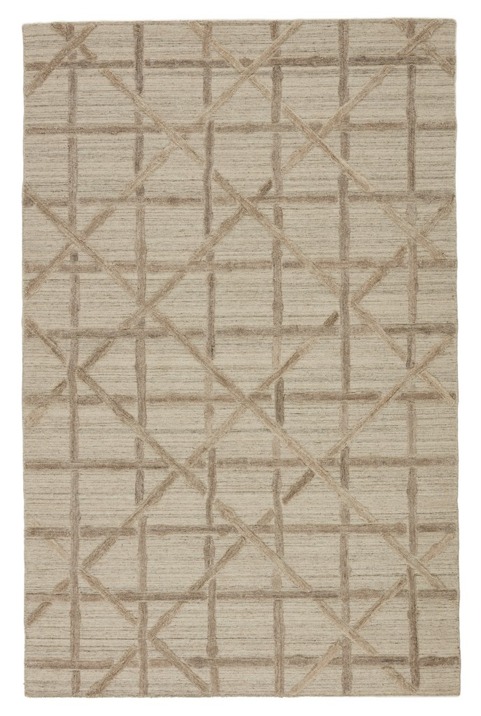 Barclay Butera by Jaipur Living Mandeville Handmade Trellis Beige/ Gray Area Rug (5