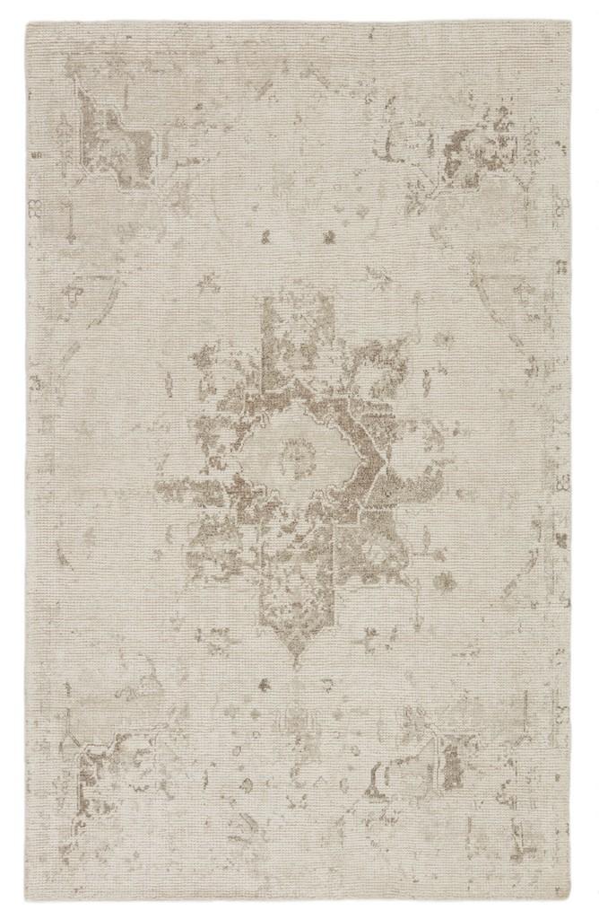 Barclay Butera by Jaipur Living Canyon Handmade Medallion Ivory/ Light Gray Area Rug (5