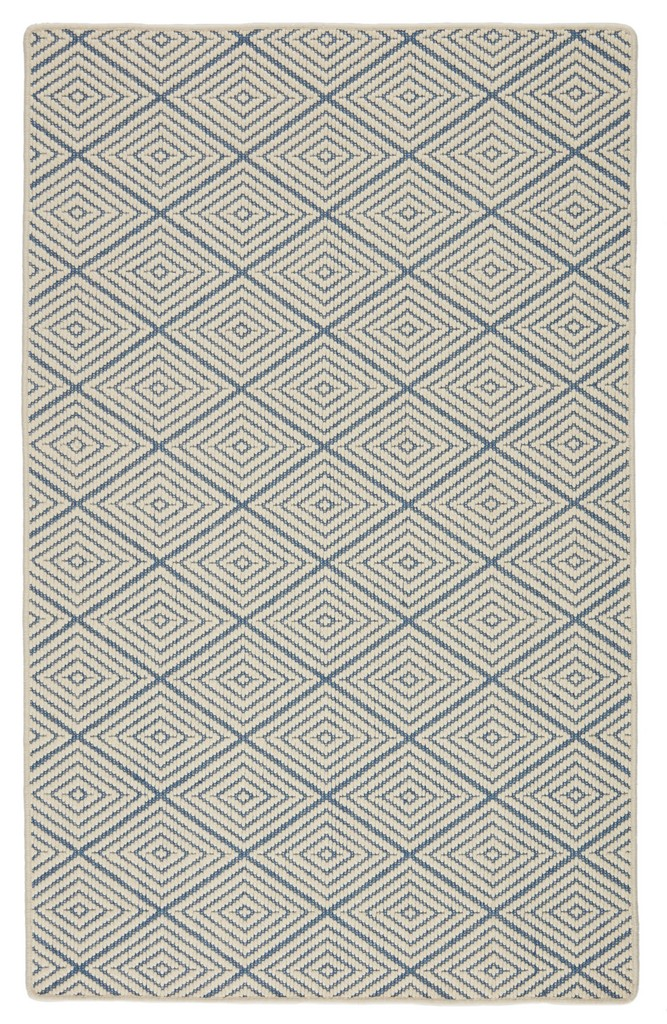 Barclay Butera by Jaipur Living Pacific Natural Trellis Blue/ Ivory Area Rug (5