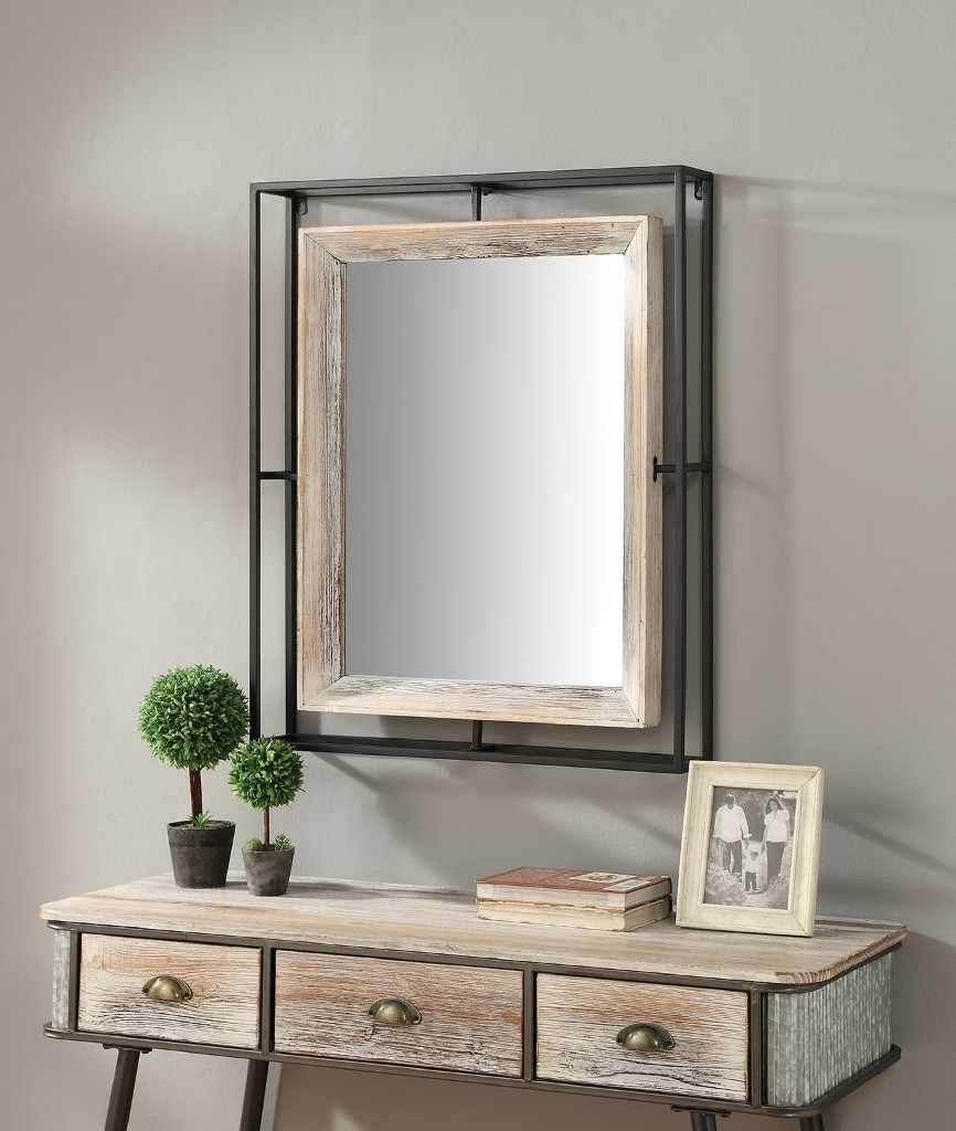Alta Collection Mirror w/ Fir And Metal/Brown - 4D Concepts 191026