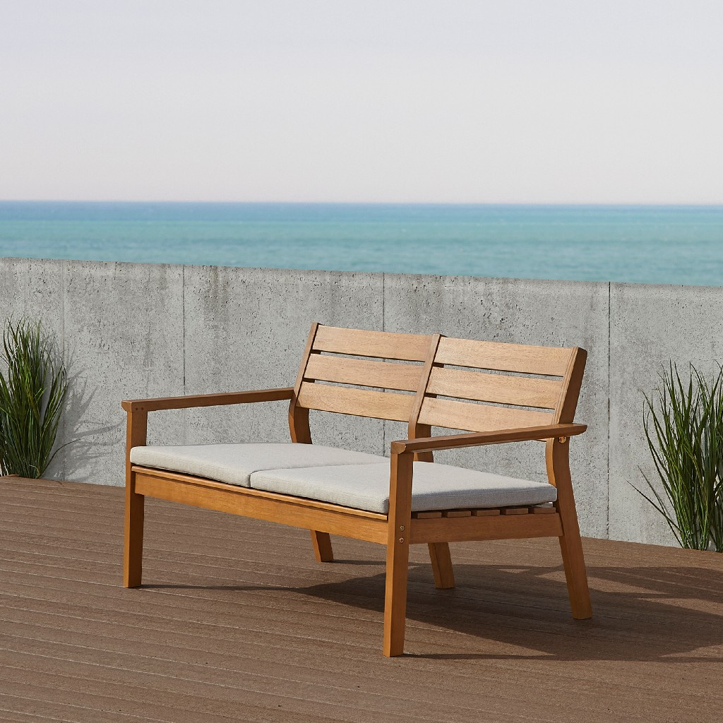 Hale Two Seat Bench in Teak - Real Flame 1916-TEAK