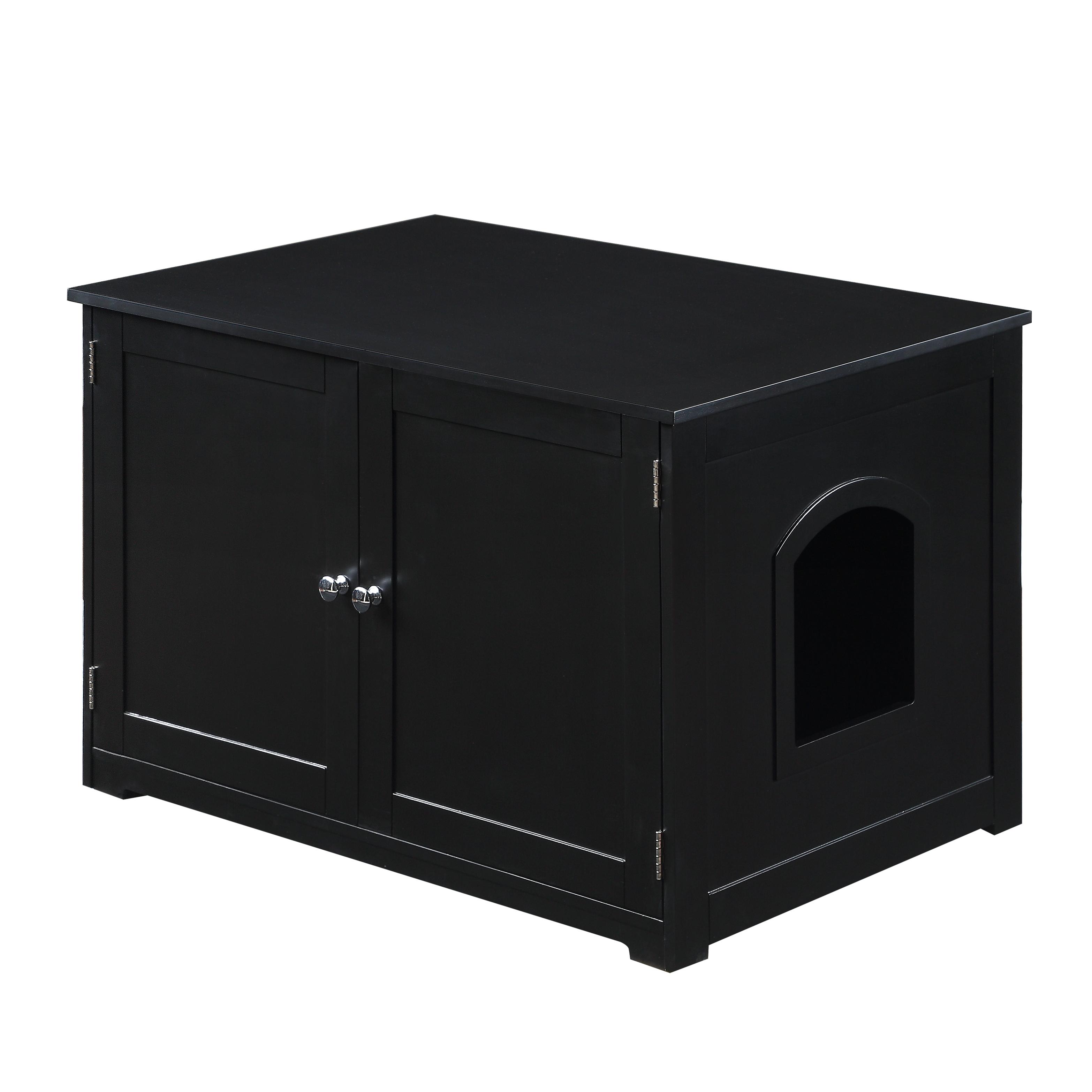 Kitty Litter Loo Bench in Black - Zoovilla PTH1061721700