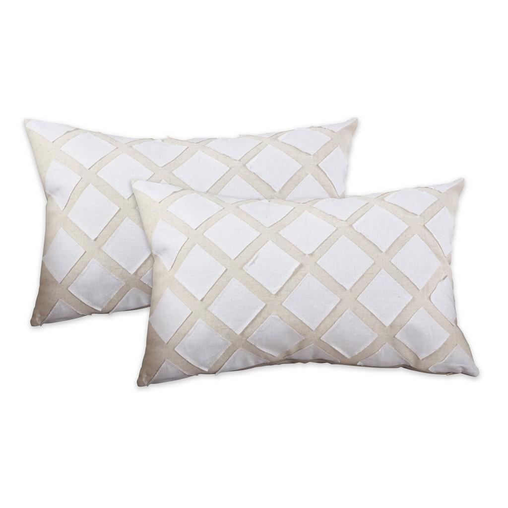 Appliqué Design Throw Pillow - Cover Only (Set of 2) - Saro Lifestyle 022.N1320BC