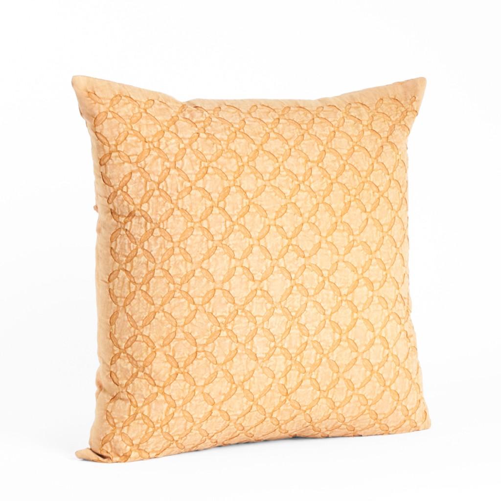Applique Sheeting Decorative Throw Pillow - Saro Lifestyle 1215.BS20S