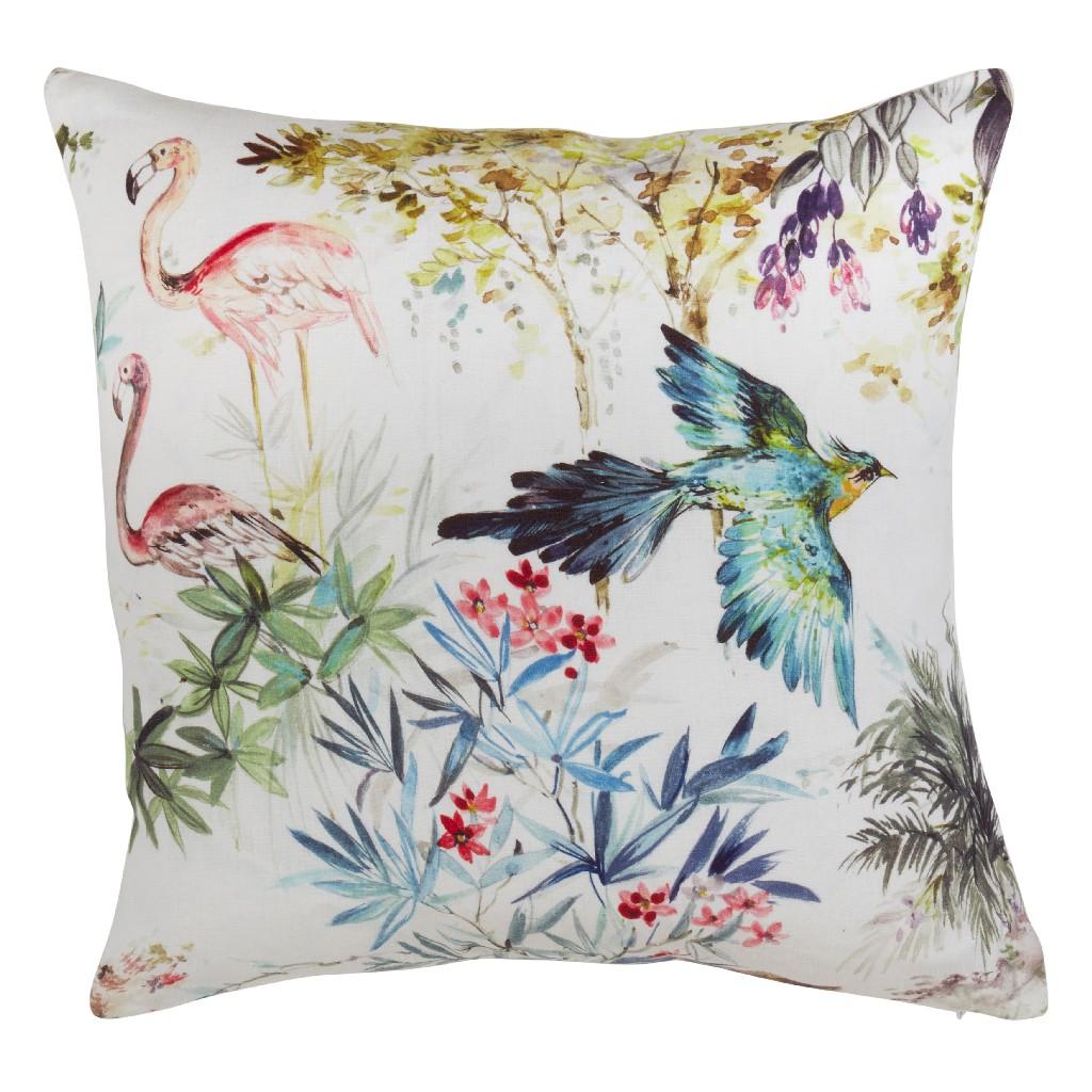 100% Linen Throw Pillow w/ Down Filling - Saro Lifestyle 1762.M20S