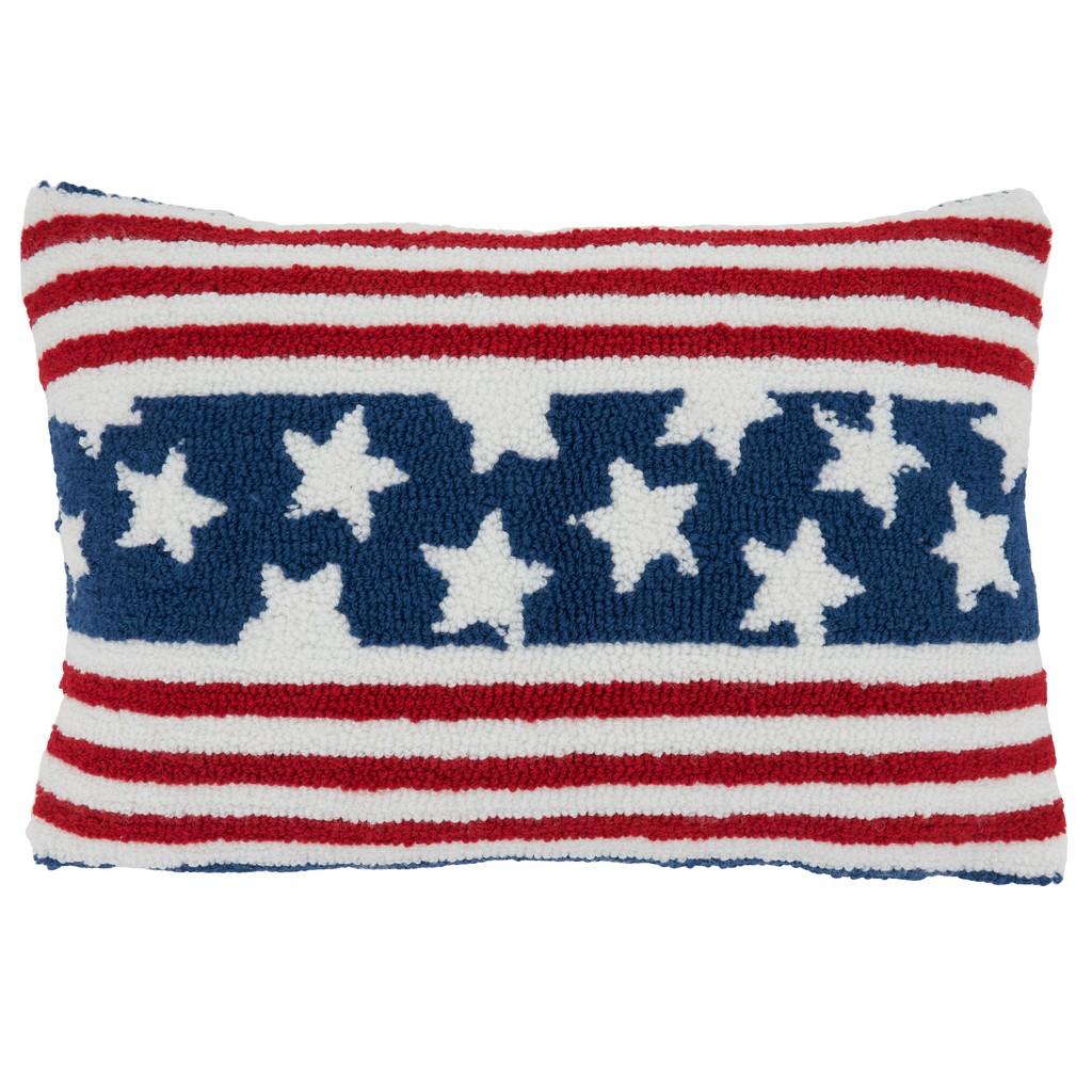 Americana Design Throw Pillow Cover - Saro Lifestyle 5311.M1218BC