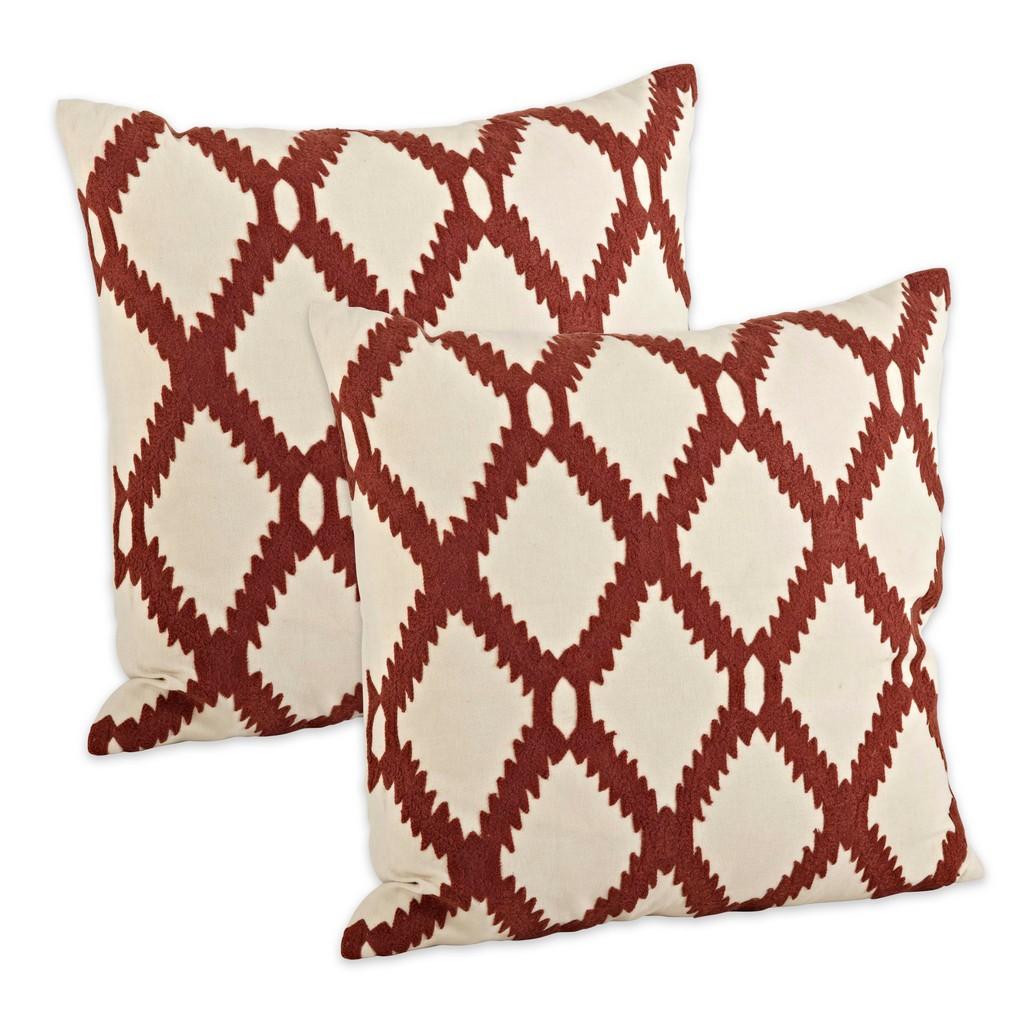 Ari Embroidered Throw Pillow Cover (Set of 2) - Saro Lifestyle 6090.RU18SC