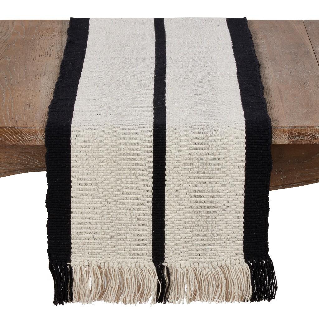 100% Cotton Runner w/ Heavy Rug Design - Saro Lifestyle 7784.M1672B