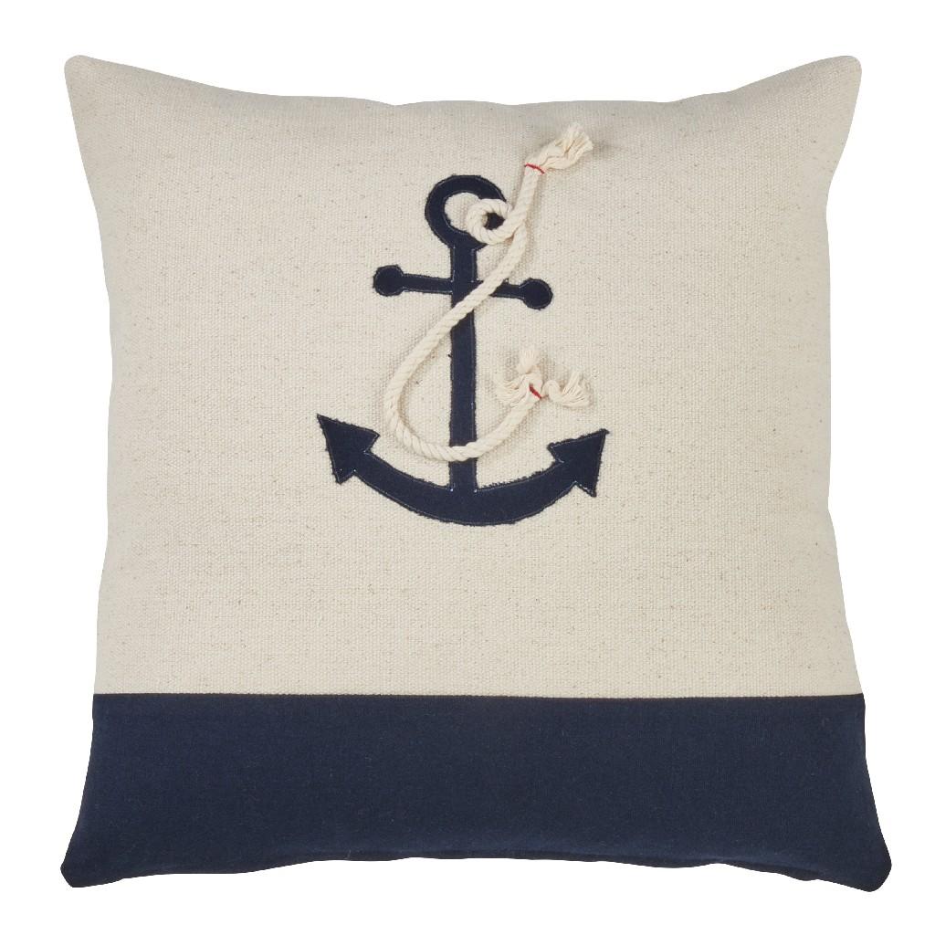 Anchor Design Down Filled Throw Pillow - Saro Lifestyle 978.M18S