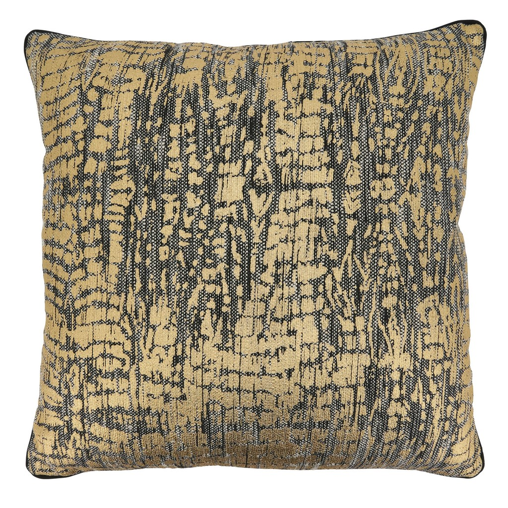 Animal Foil Print Throw Pillow With Poly Filling - Saro Lifestyle 9917.GL22SP