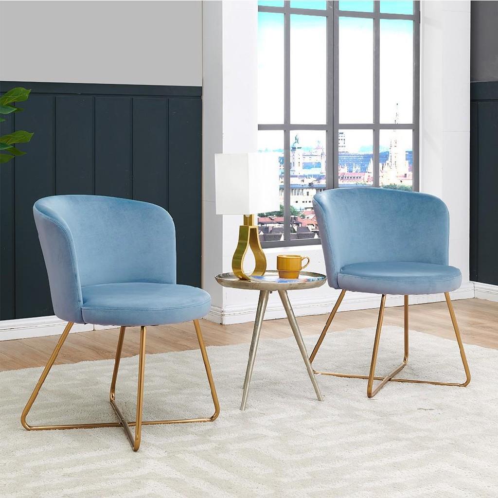 Alexa Accent Chair (Set of 2) - MYCO AL9000-BL