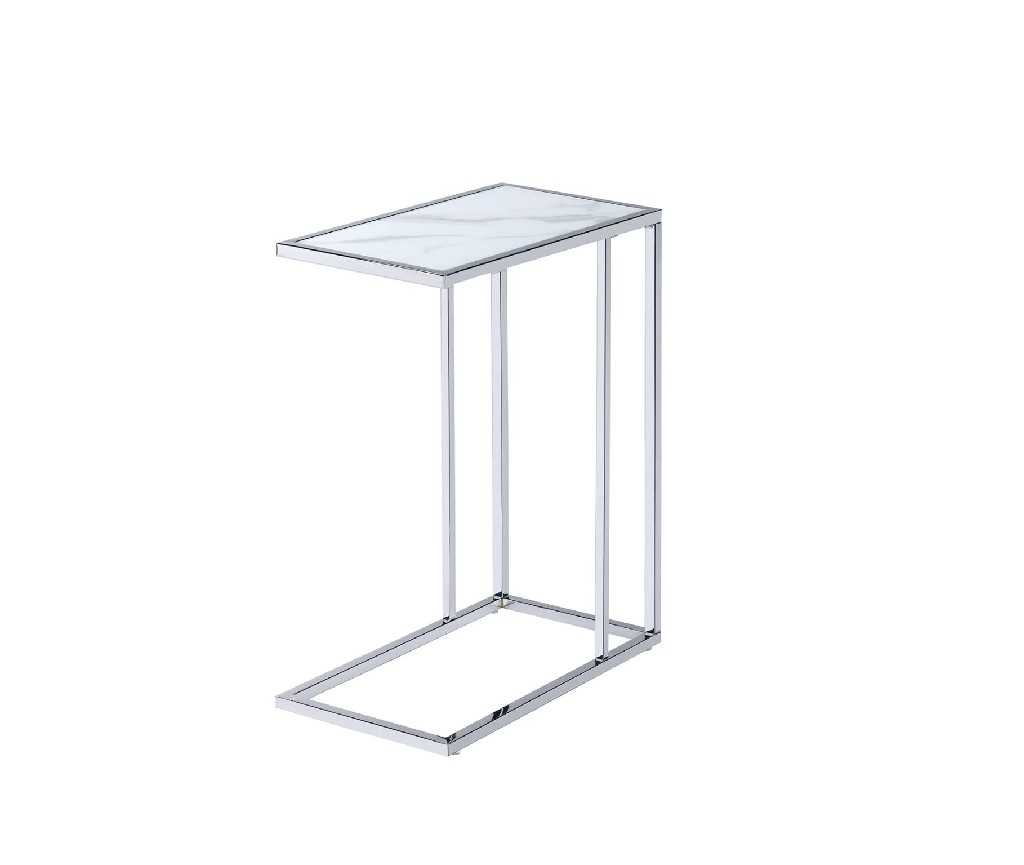 Amelia Chair Side End Table, White - MYCO AM115