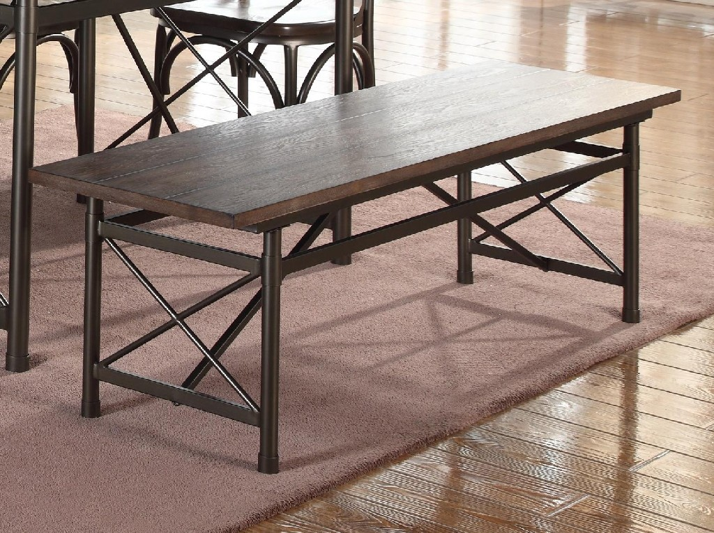 Anderson Rustic Brown Bench - MYCO AN339-B