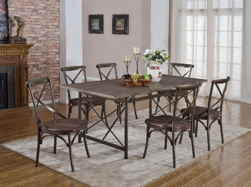 Anderson Rustic Brown Dining Table - MYCO AN339-T