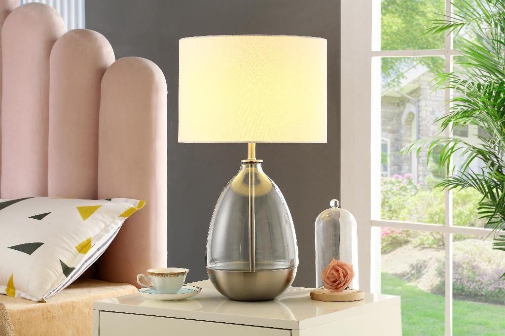 Arianna Table Lamp, Silver - MYCO AR937-SV