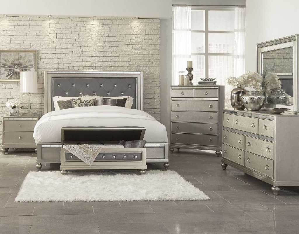 Mirrored Twin Bed