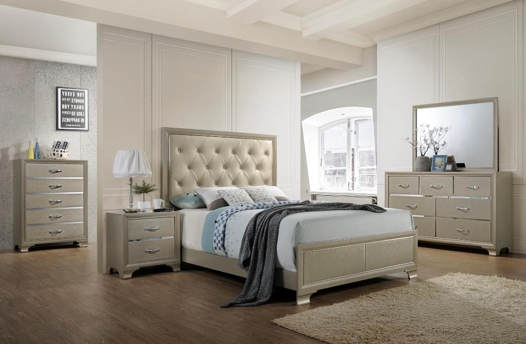 Myco Dawson Tufted King Bed Leather
