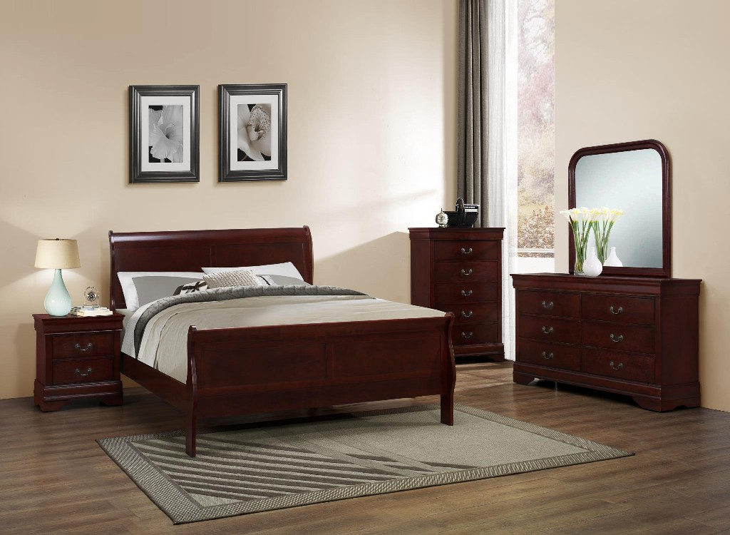 Myco Furniture Sleigh King Bed Photo