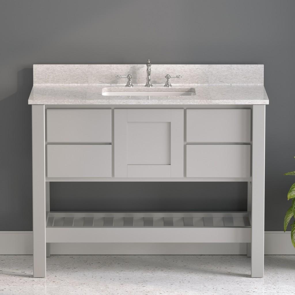 Gray Bathroom Vanity – Olympus Plumbing
